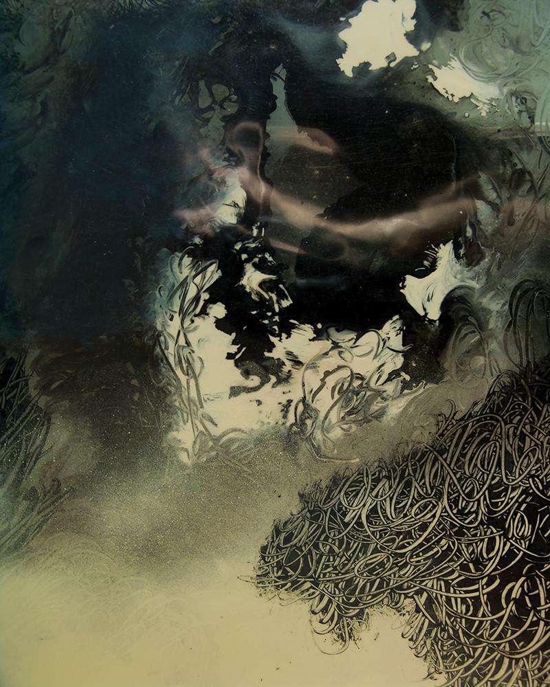 François Lannes -Peinture Photo - Fumerolles