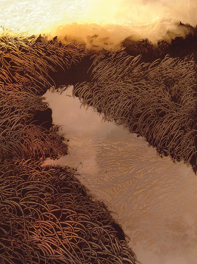François Lannes - Peinture Photo - Glaces de méthane