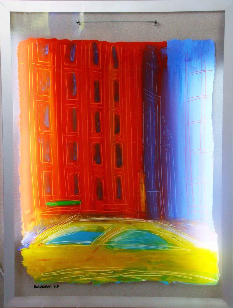 City 2 - Acrylique sur Plexiglass