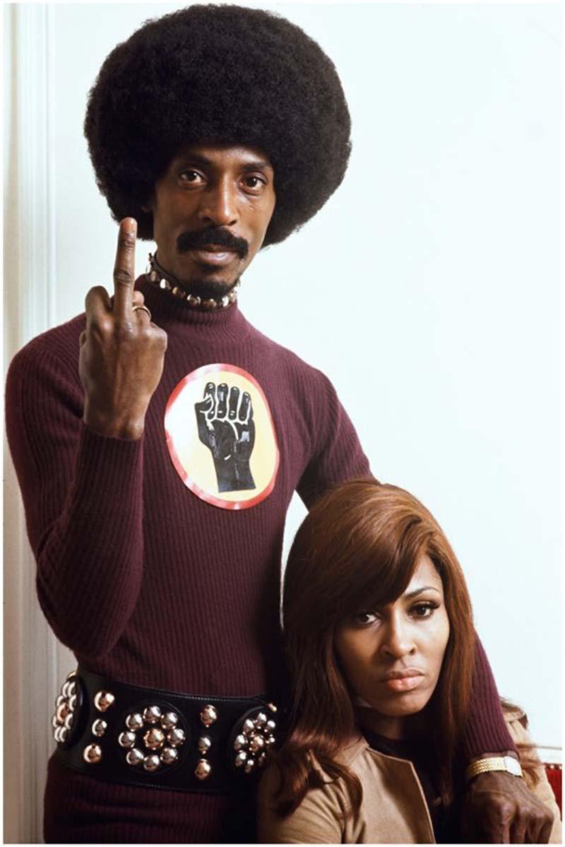 Ike & Tina TURNER - Paris - 1971 - 80 x 120 cm