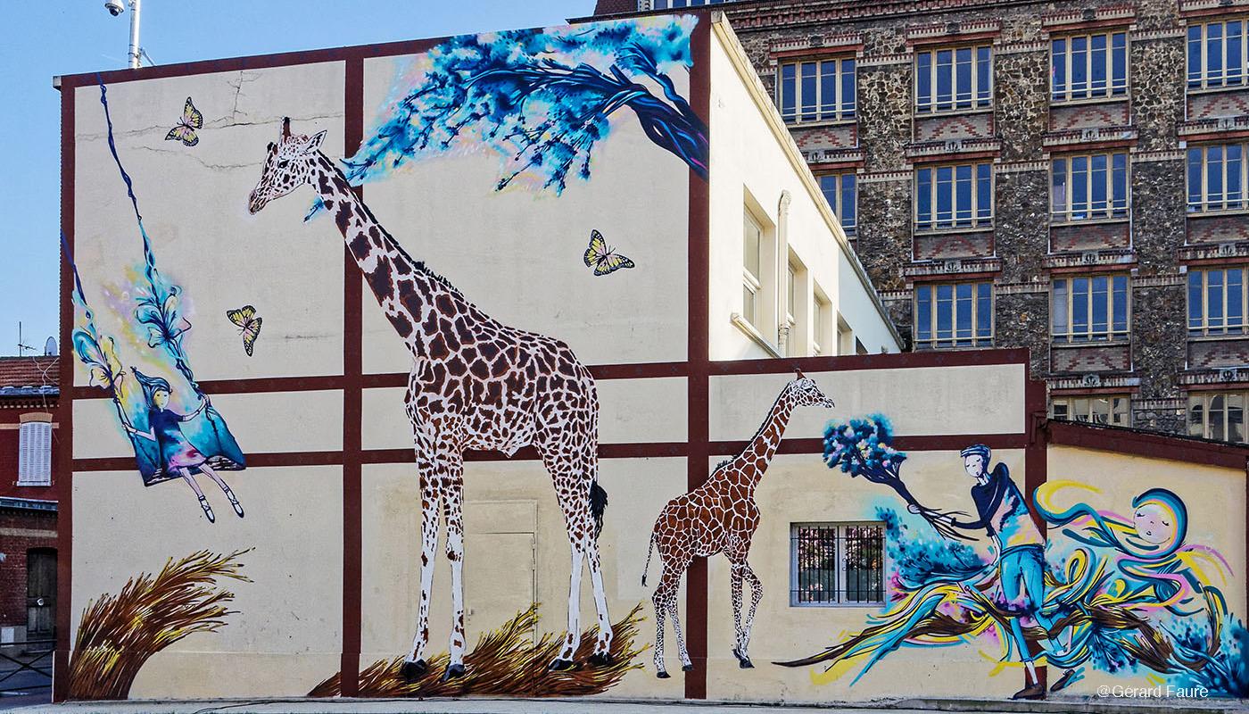 Le Street Art<br /> &nbsp;&nbsp;à<br /> &nbsp;&nbsp;&nbsp;l'honneur