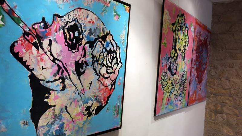 Les toiles exposées chez GALRY