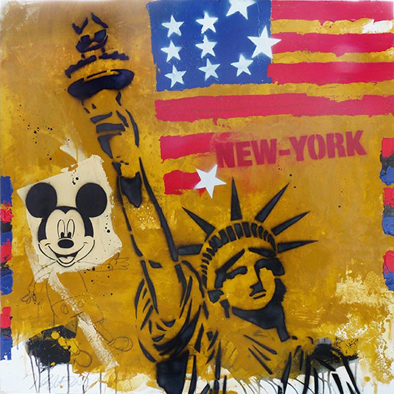 NYC, liberté et Mickey