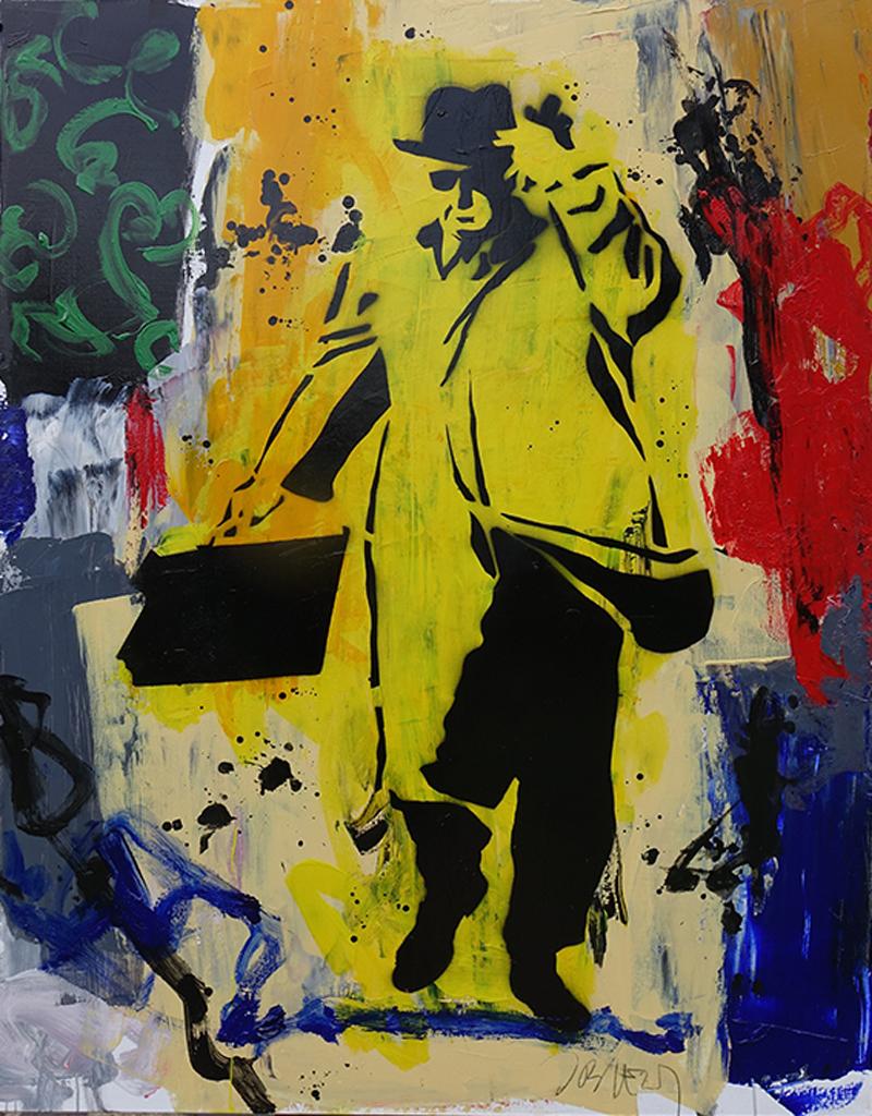 Homme Pressé Pochoir - 146 x 114 cm