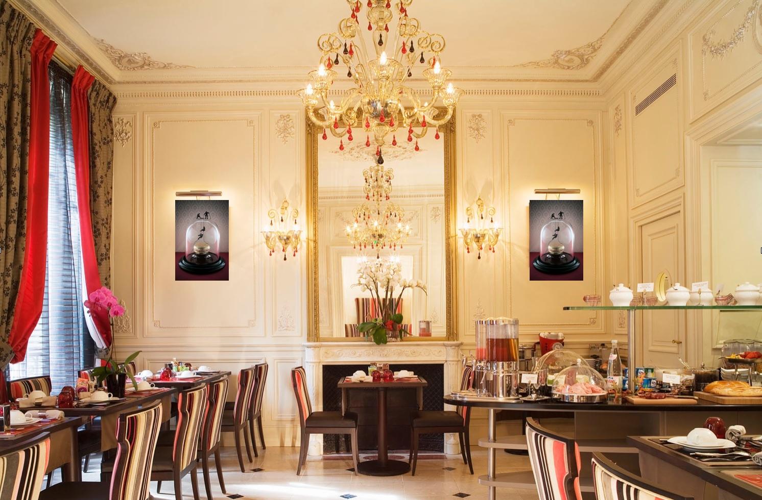 La salle du petit déjeuner du Regent's garden hôtel