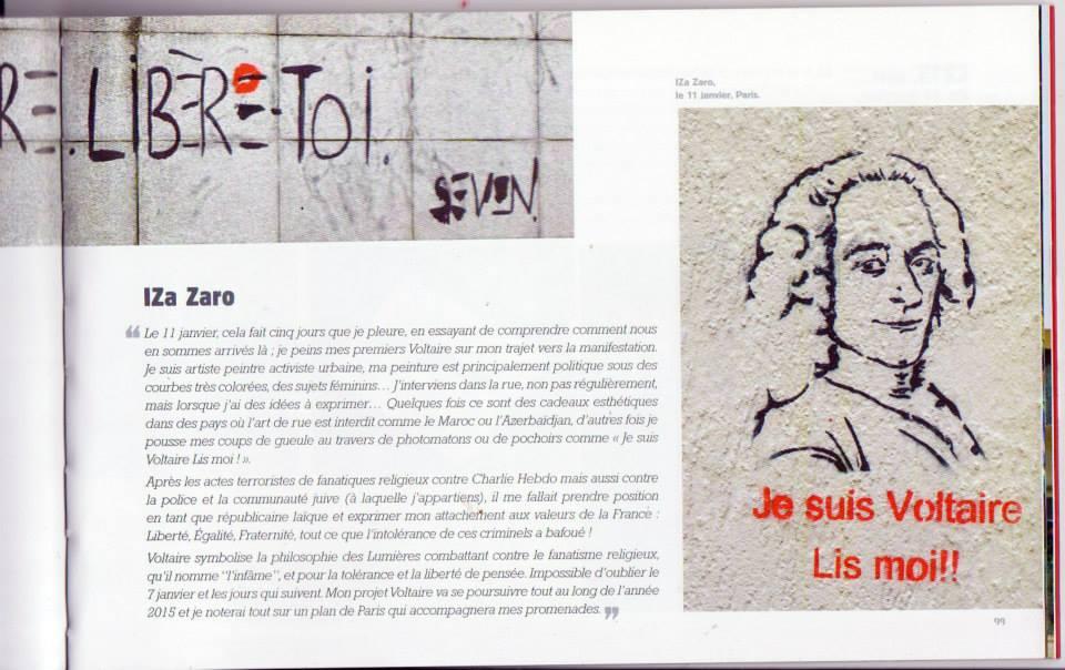 IZA Zaro est une des street artistes de l'ouvrage