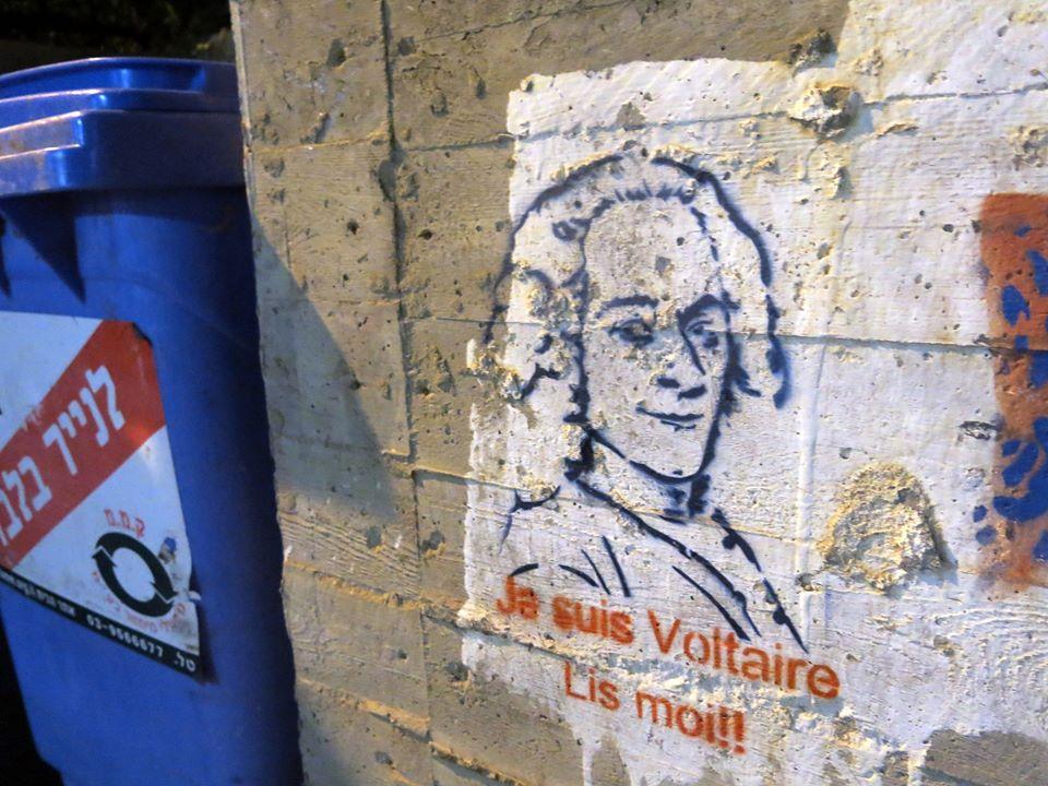 """""""Je suis Voltaire - Lis moi!""""- Tel-Aviv, Israël"""