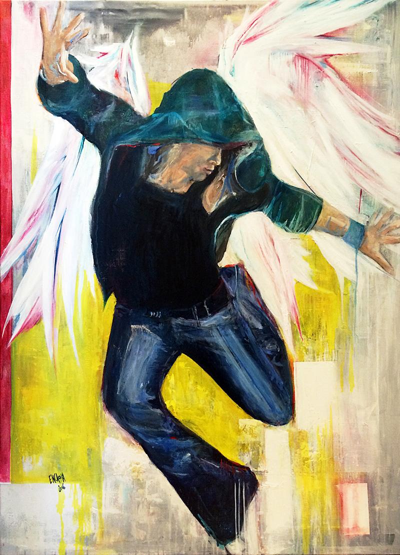 Dancing - 2016 - Huile sur toile - 88 x 116 cm