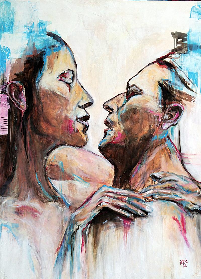 Lovev- 2016 - Huile sur toile - 91 x 120 cm