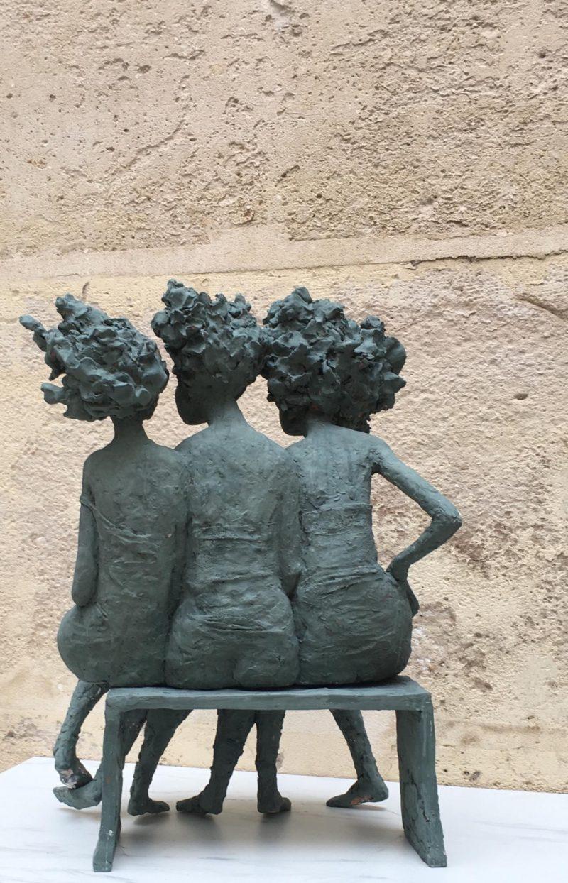 Valérie Haida - Trio de femmes - Vue de dos