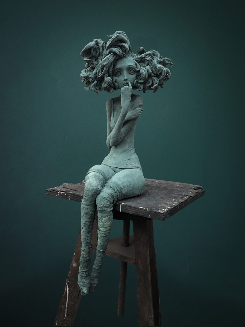 Valérie Hadida - La rêveuse - 82 x 30 x 30 cm - Bronze - 2017