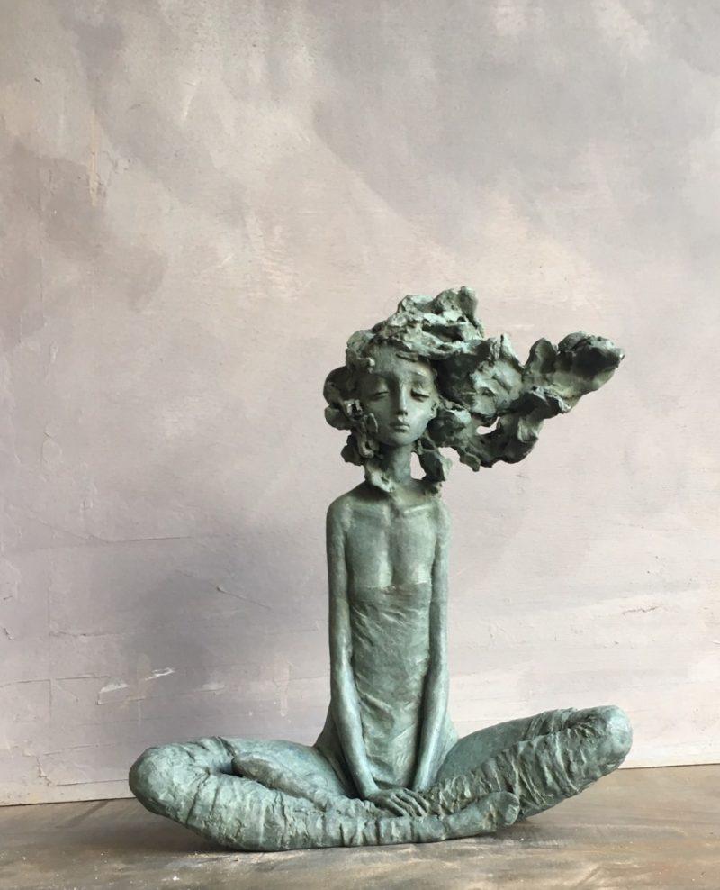 Valérie Hadida -Rose des vents- Bronze - 33x 27 x 12 cm