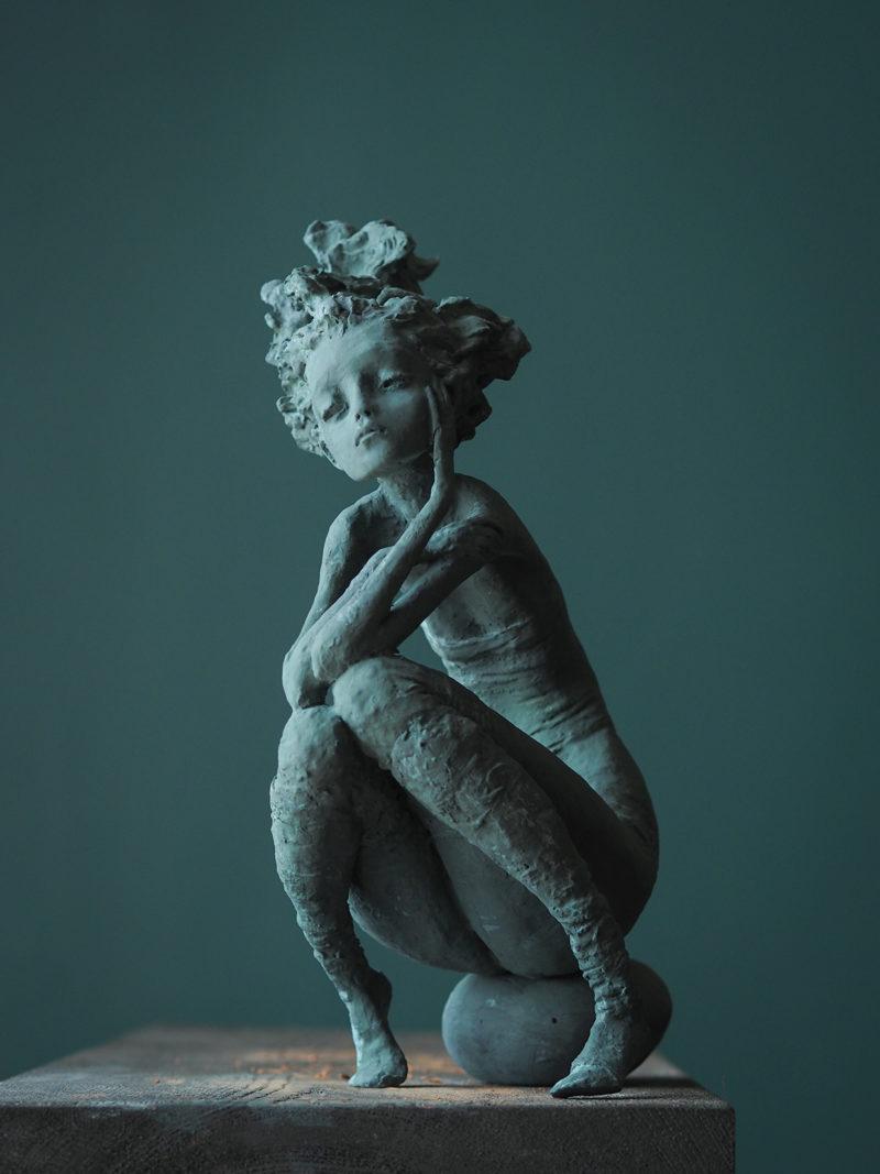 Valérie Hadida - Le galet - 37 x 24 x 15 cm - Bronze - 2018