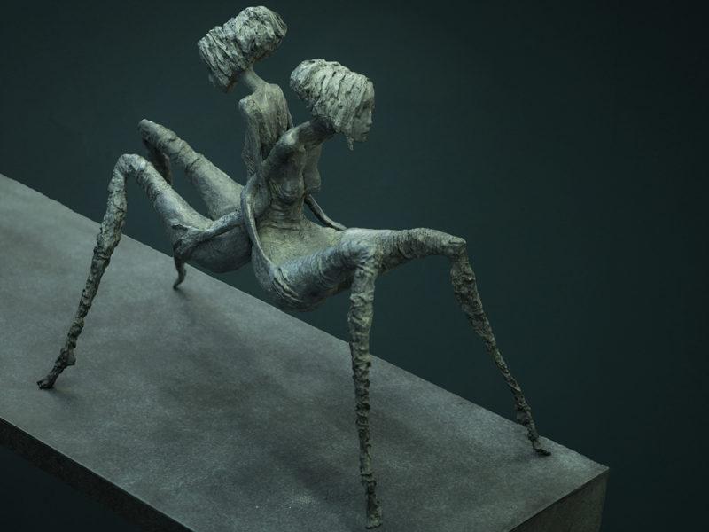 Valérie Hadida - Femme araignée - 53 x 42 x 29 cm - Bronze - 2015