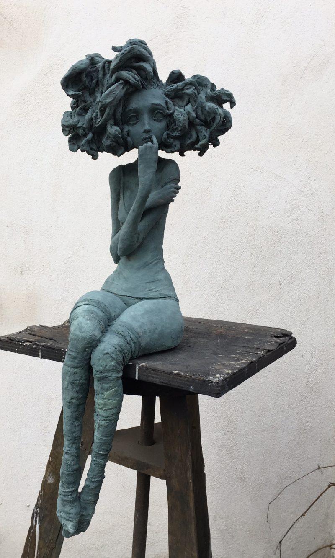 Valérie Hadida - Rêveuse - Bronze - 83 cm