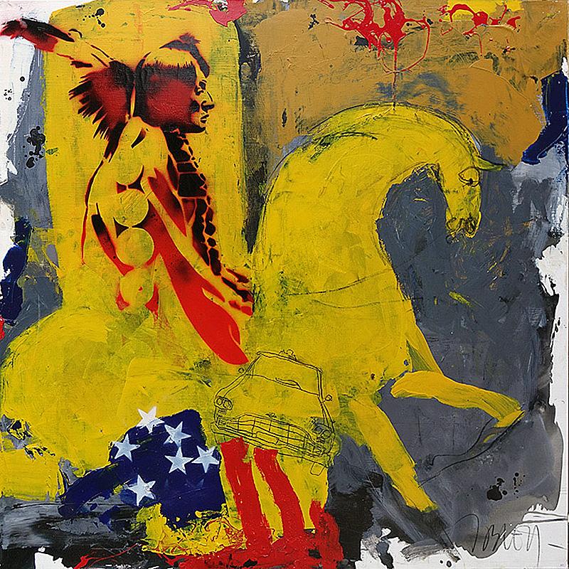 Jacques Blézot - Silhouette - 120 x 120 cm