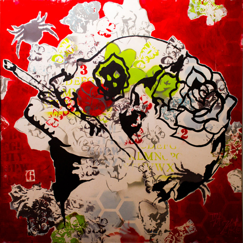 Vanity red - 100 x 100 cm