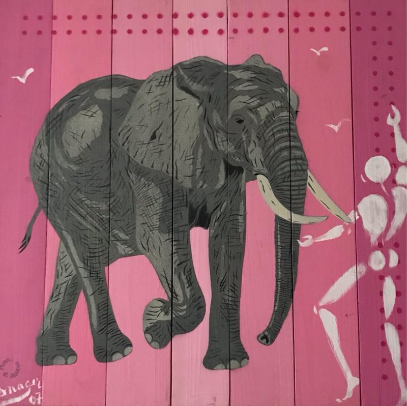 Collab Mosko & Mesnager -  L'homme & l'animal - 66 x 69 cm