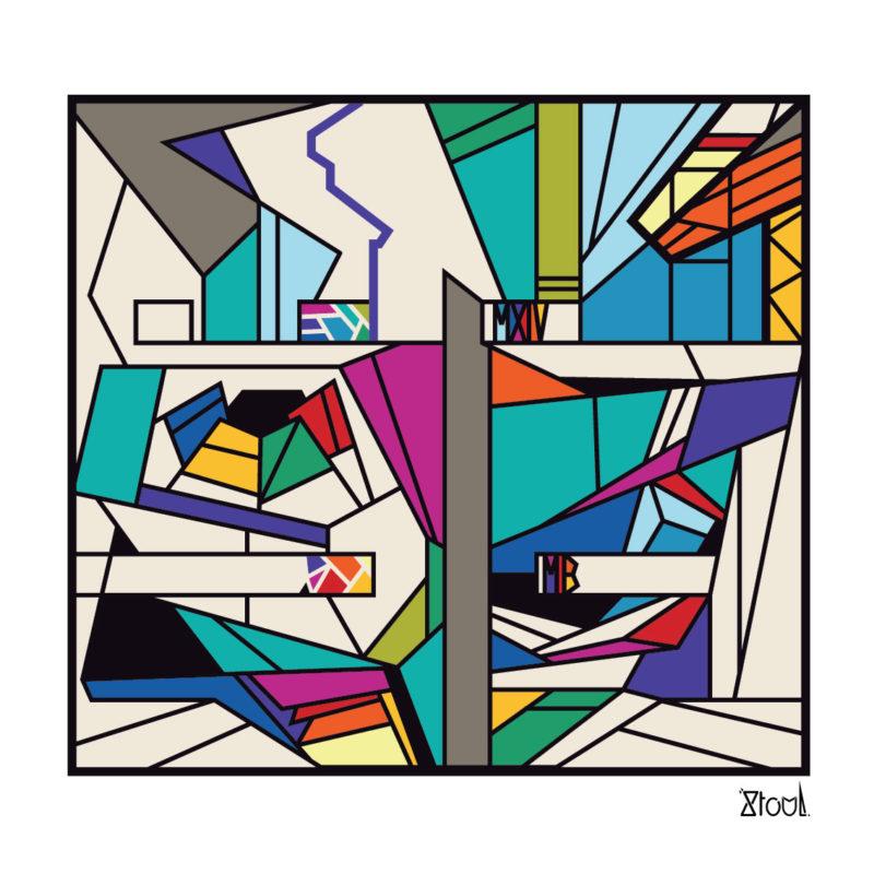 Stoul - ORU MXIV - Estampe numérique sur papier beaux arts - numérotée sur 30 - 40 x 40 cm - 2021