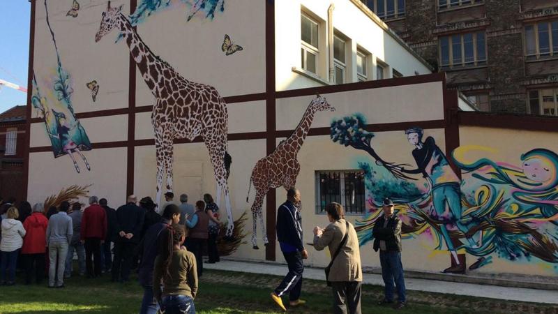 Une grande fresque poétique pour «égayer» le centre-ville