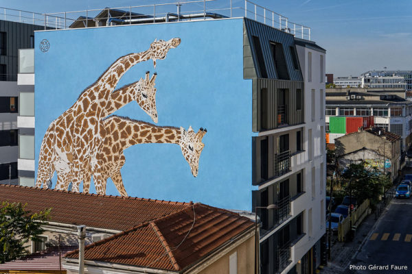 Création d'une fresque monumentale du Street Artist Mosko