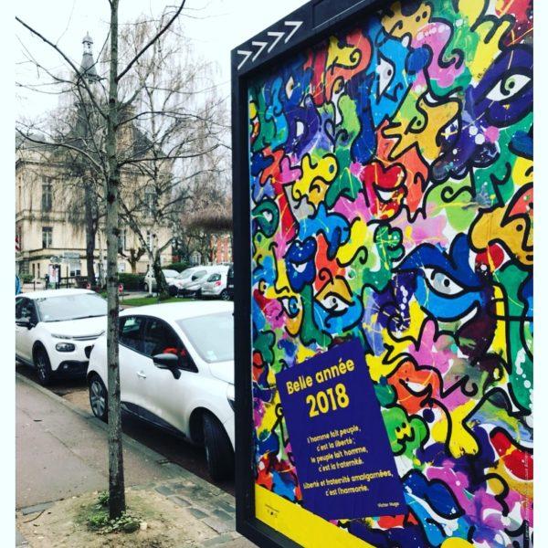 Le Street Artist Louis Bottero signe les Voeux de la Ville de la Courneuve