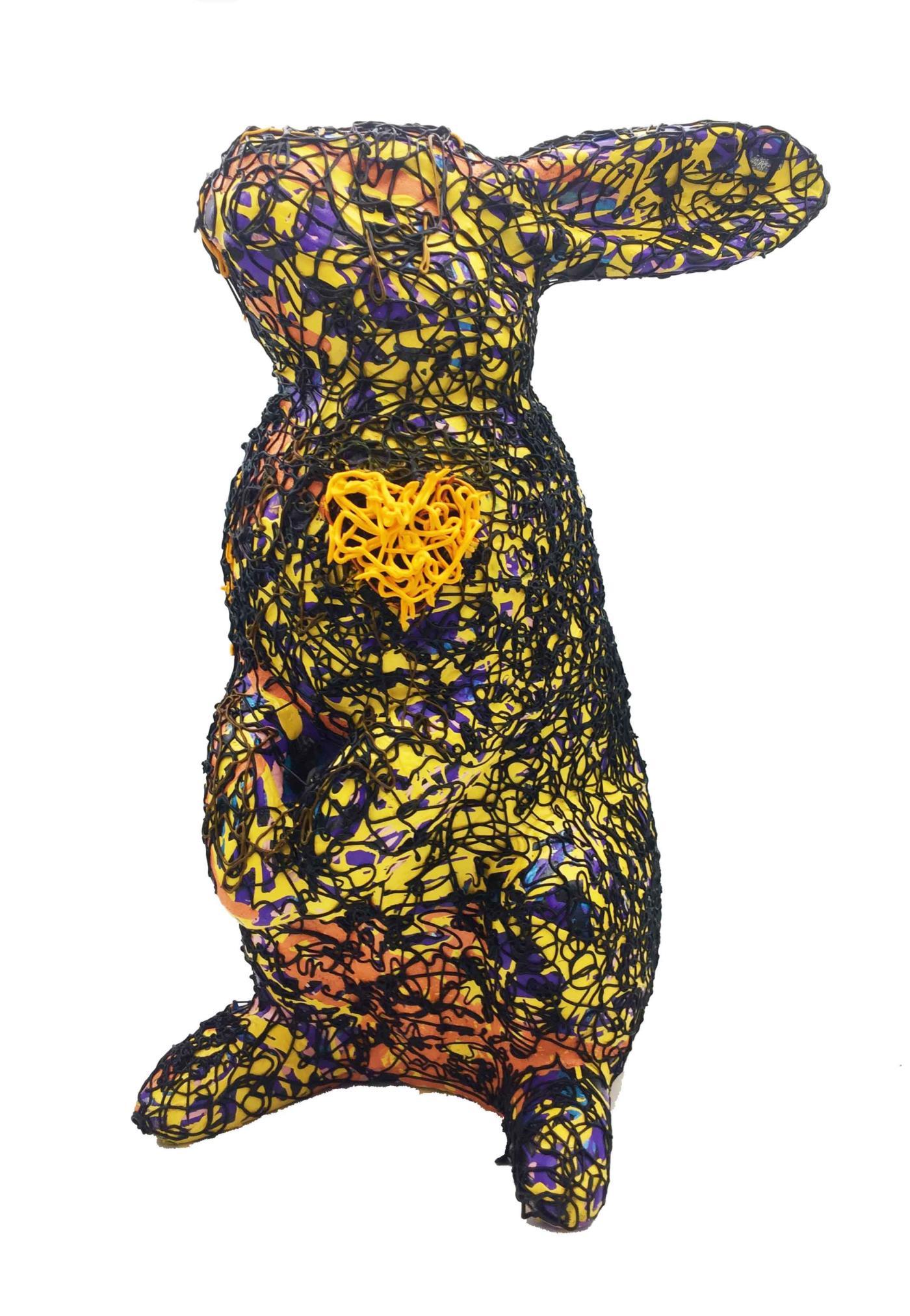 Daphné Dejay - Série les Jean d'Art -Jean Joe (hommage à Boelher) - Acrylique sur résine - vernis  - Pièce unique - 38 x 20 x 17 cm