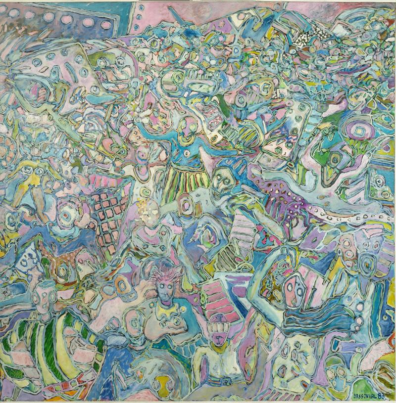 Sans titre 5 - Huile sur toile - 150 x 150 cm - 1983 - crédit photo @ThierryLedoux