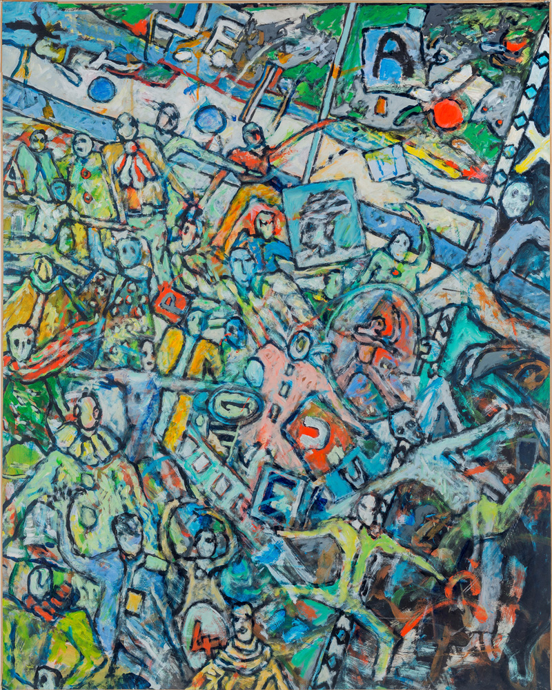 Sans titre 3 - Acrylique sur papier marouflé sur toile - 110 x 138 cm - 1985 - crédit photo @ThierryLedoux