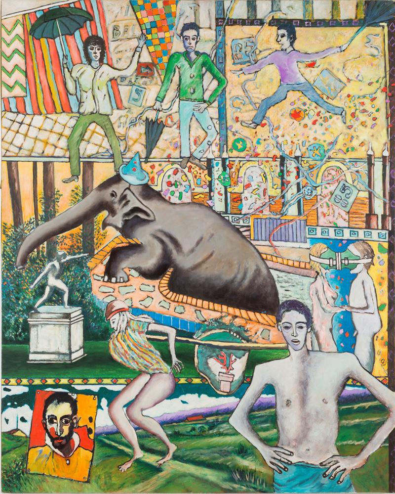 Sans titre 1 - Huile sur toile - 130 x 163 cm - 1985 - crédit photo @ThierryLedoux