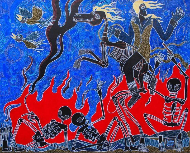 Julien Calot - WInter - Techniques mixtes sur toile - 130 x 162 cm