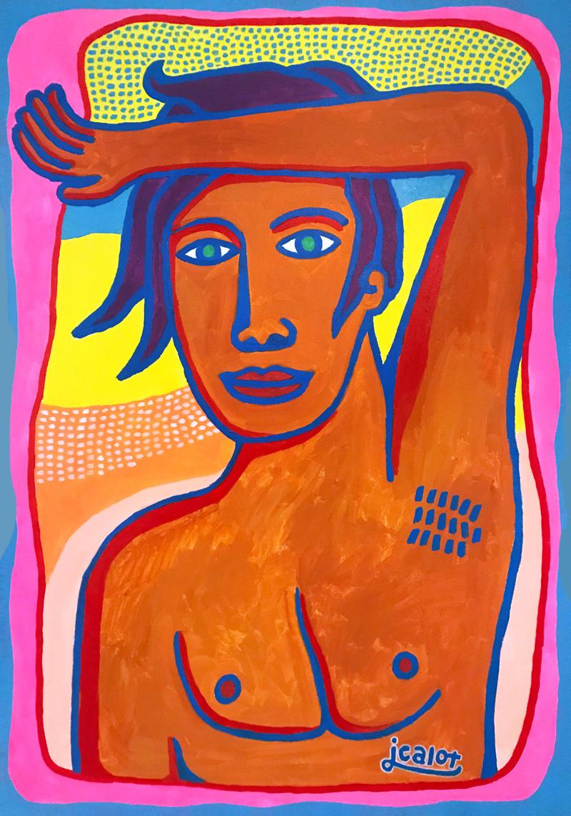 Julien Calot - L'été -2018 - Acrylique sur toile - 70 x 100 cm
