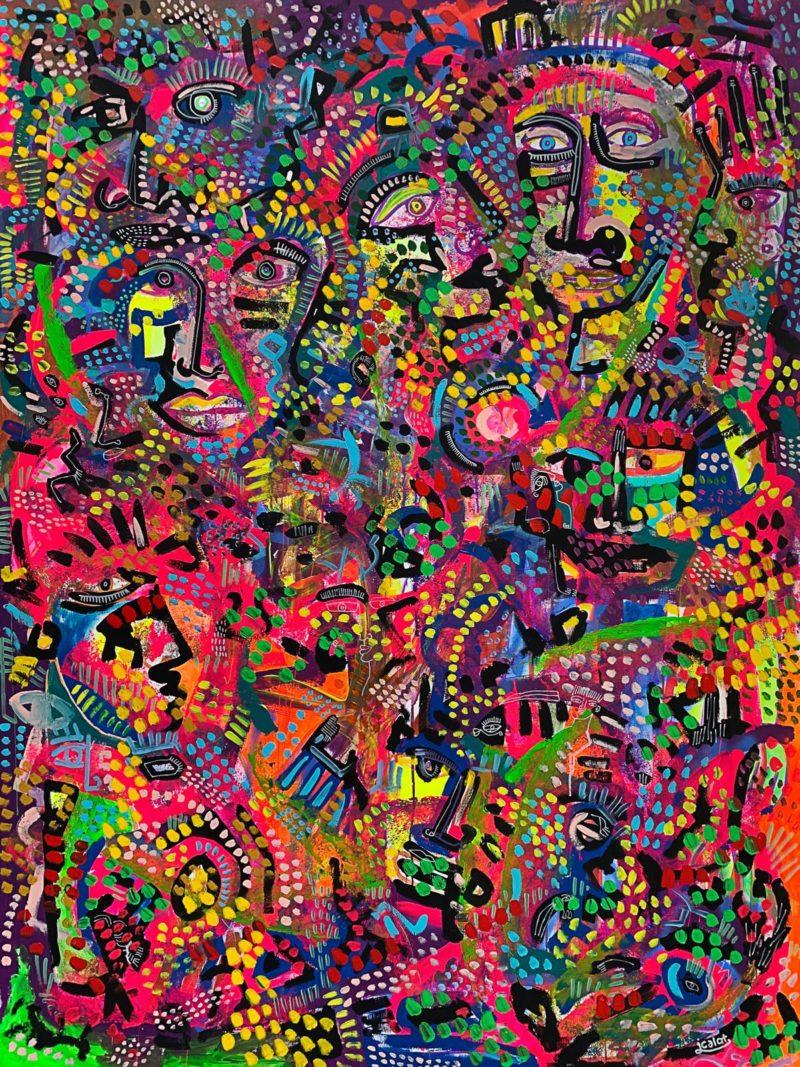 Julien Calot - Les fleurs sauvages - 150 x 200 cm
