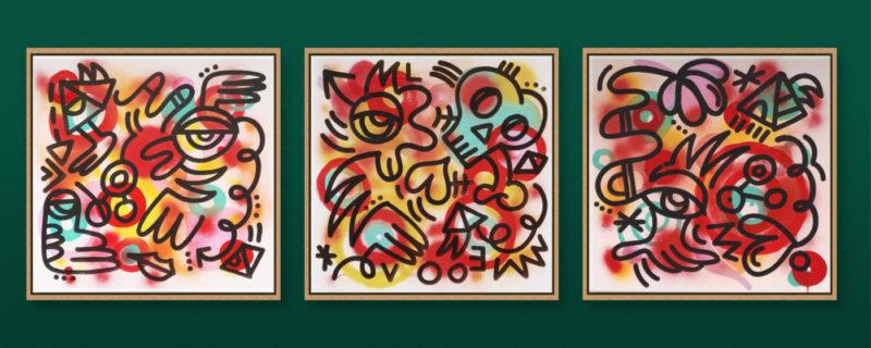 Untitled set of three