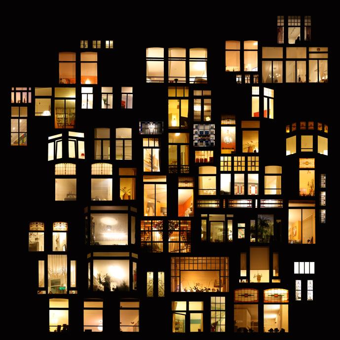 Anne-Laure Maison - Tableaux d'intimité - Amsterdam - Photomontage numérique, 90x90cm, contrecollage aluminium + chassis