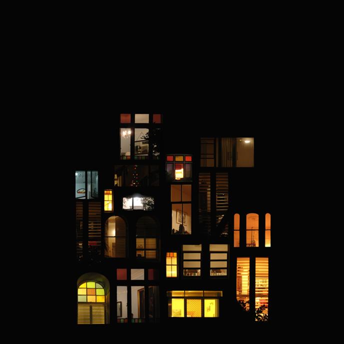 Anne-Laure Maison - Tableaux d'intimité - Sydney - Photomontage numérique, 90x90cm, contrecollage aluminium + chassis