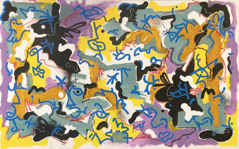 Louis Bottero - Anacamptis, 2019, 95 x 160 cm - technique mixte sur toile