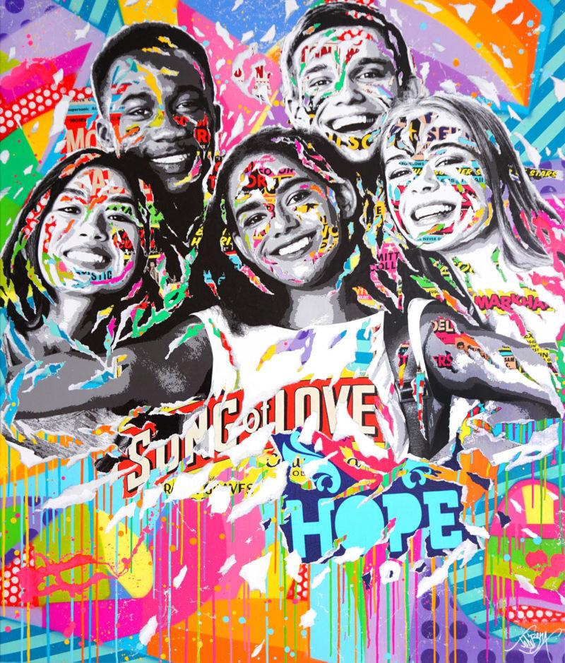 Jo di Bona - Song of love - 120 x 140 cm - Techniques mixtes sur toile